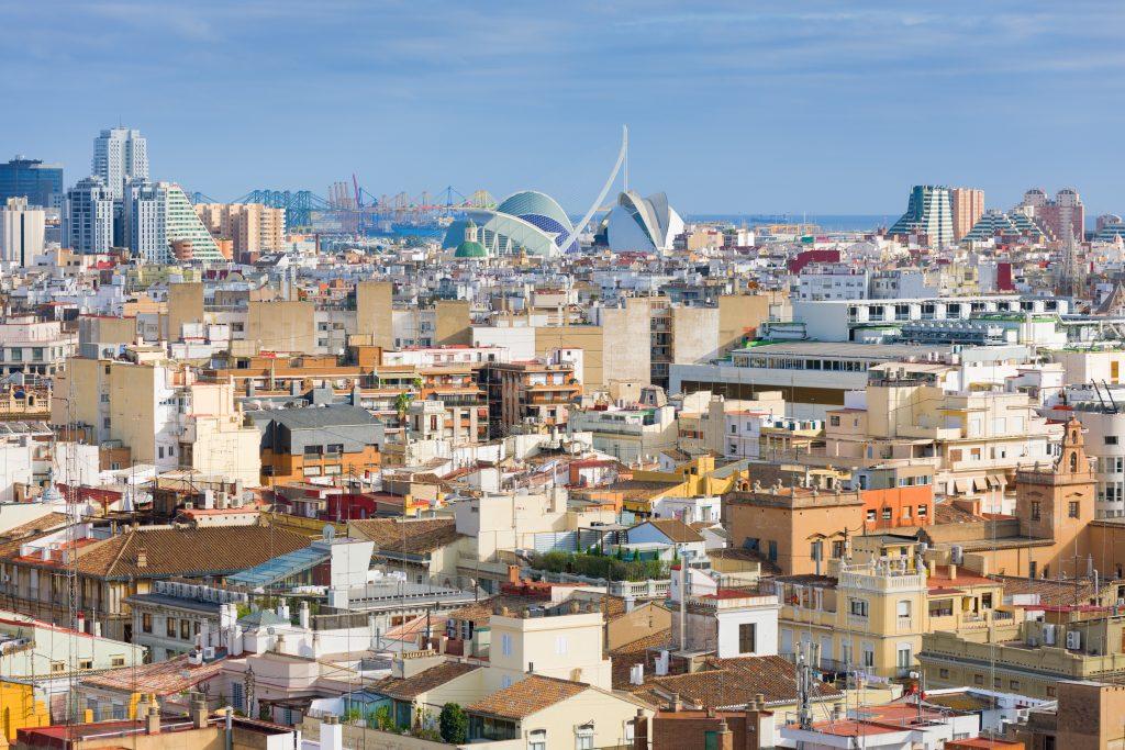 valencia spain, view of valencia city property